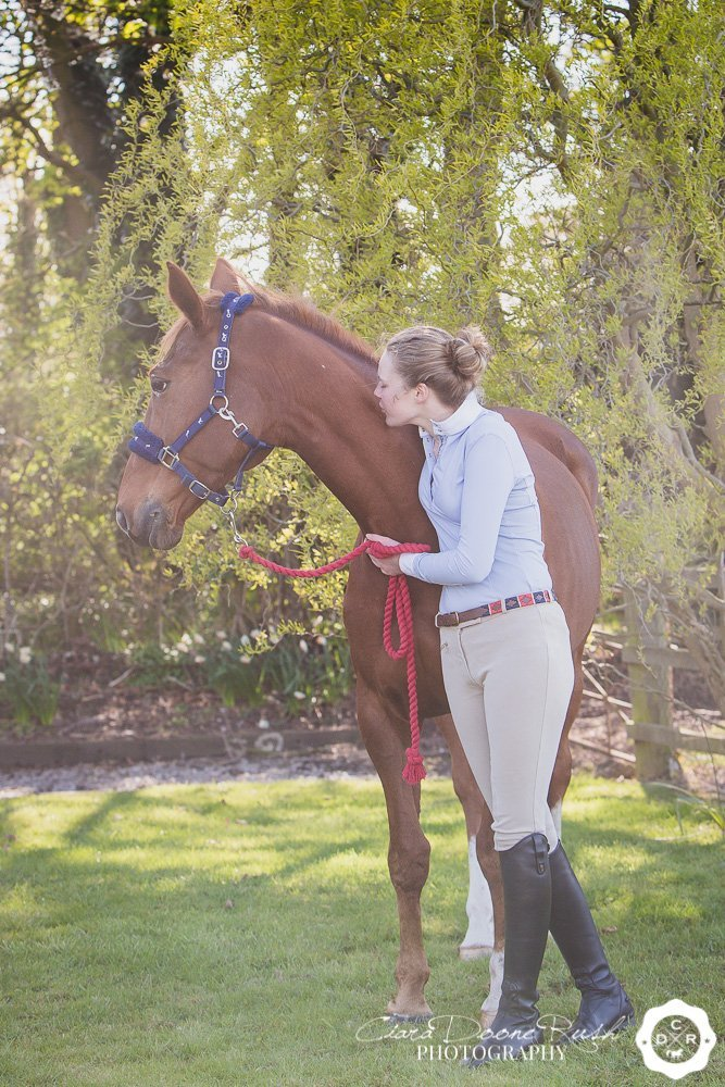 The bond between a rider and her horse