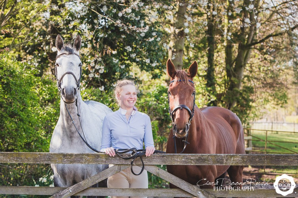 Jess with both of her horses