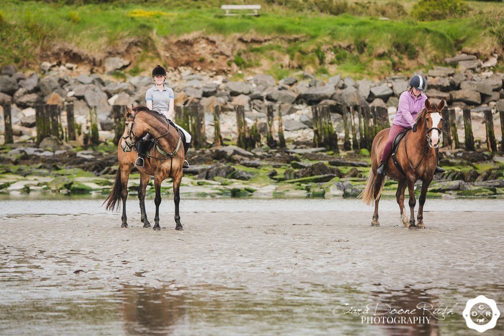 two sisters on the beach in cork