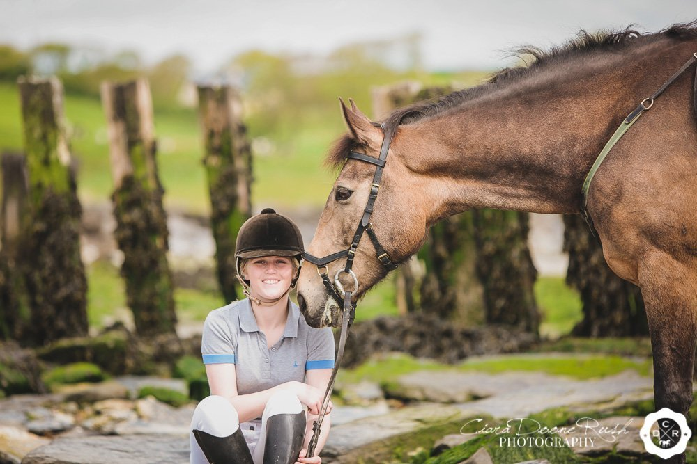 pony and rider photo shoot