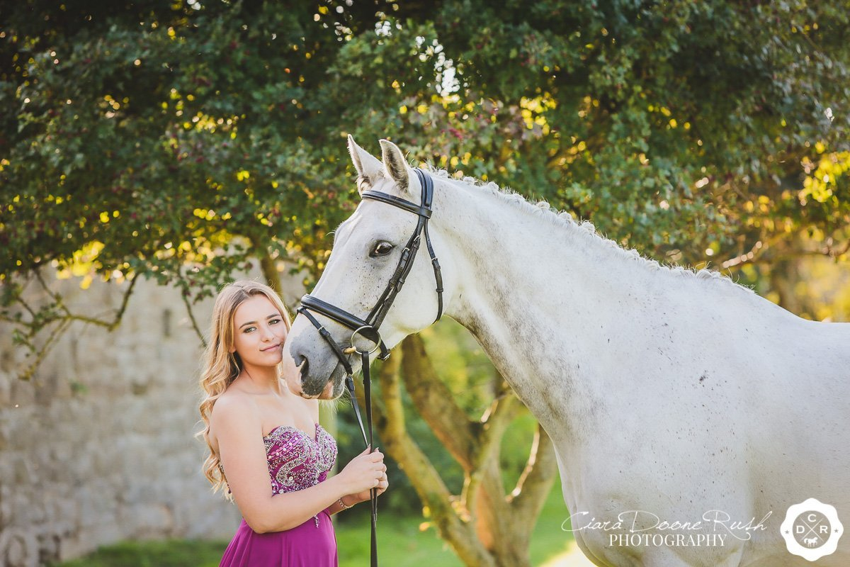 a horse and rider photo shoot at leasowe castle