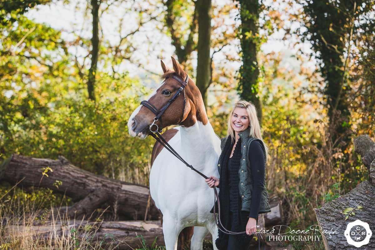 on location in cheshire for a Horse and rider photo shoot