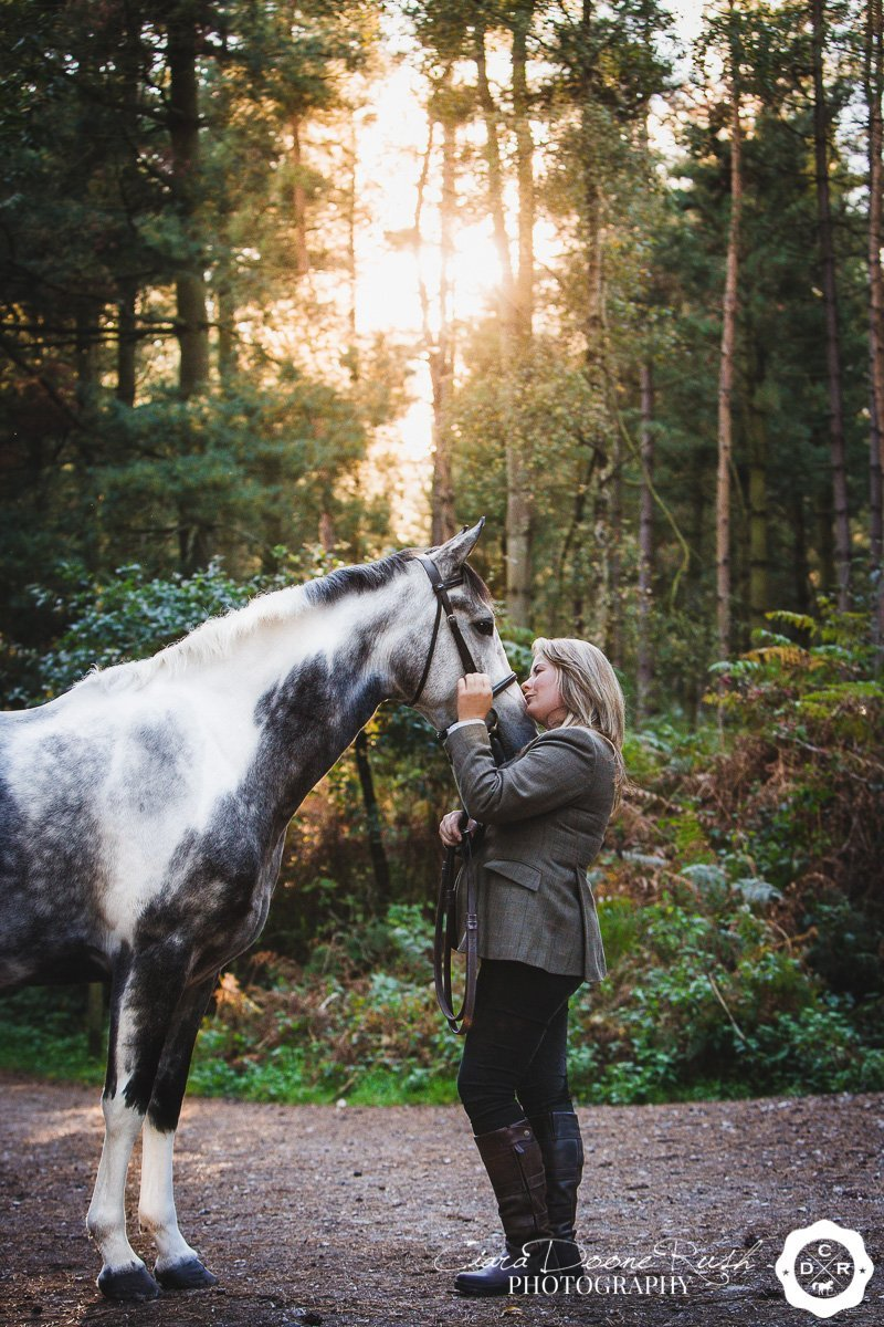 preparing your horse for a photo shoot