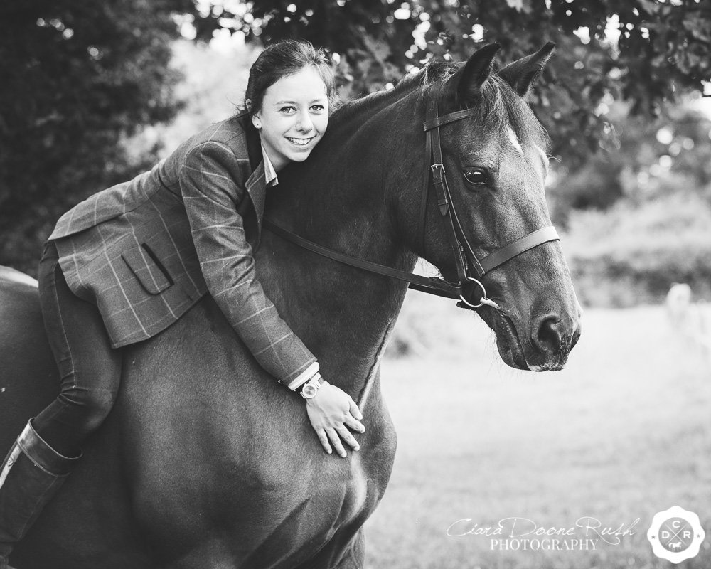 a girl on her horse