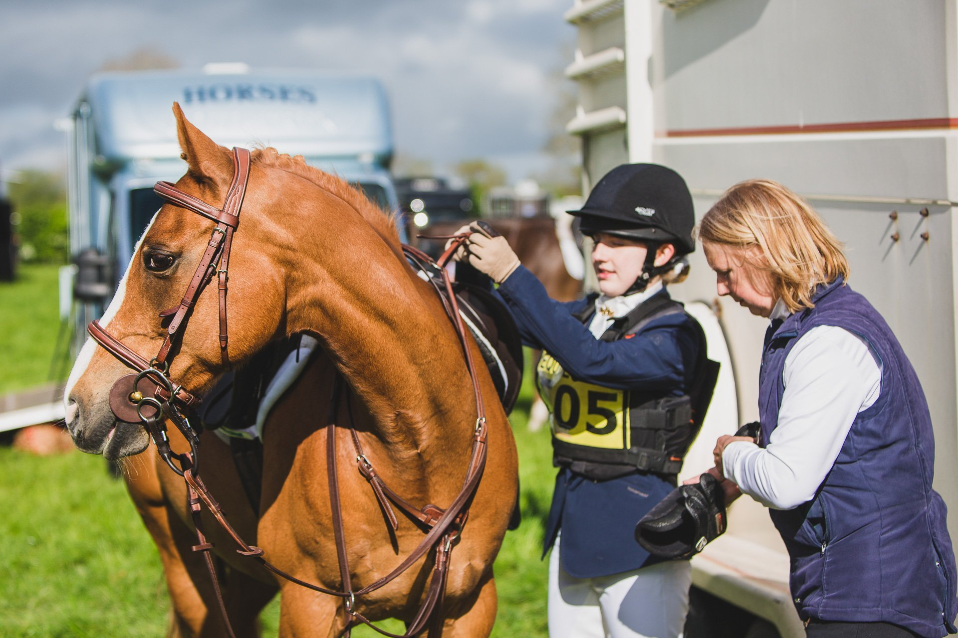 behind the scenes at a horse trials