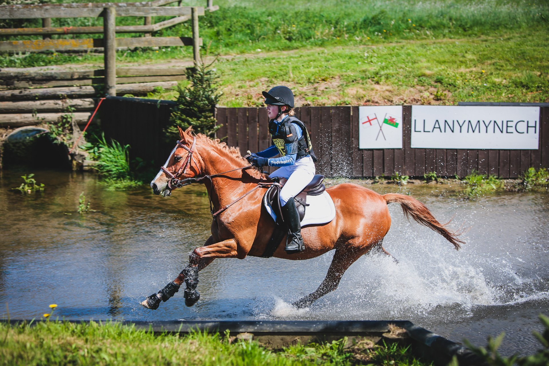 in the water at Llanymynech HT - a b*spoke competition shoot