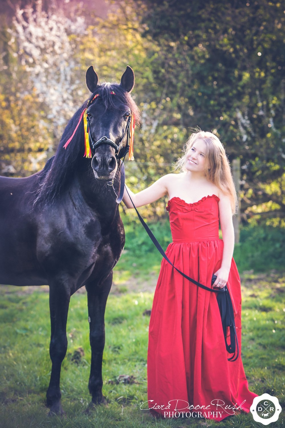 horse and rider creative portrait photography
