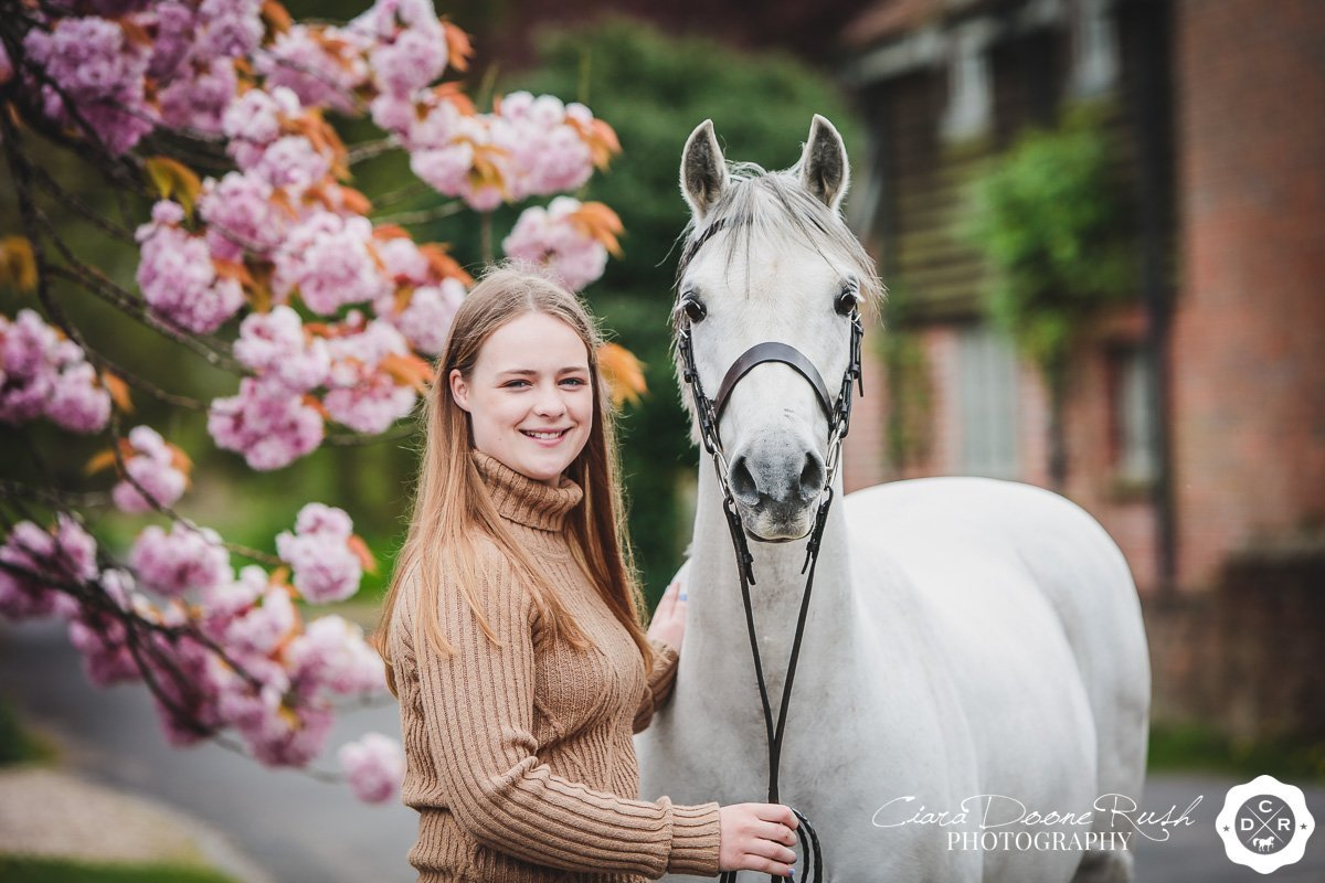 spring blossom and horse photo shoots
