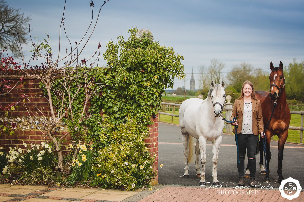 2 ponies and the salisbury cathedral