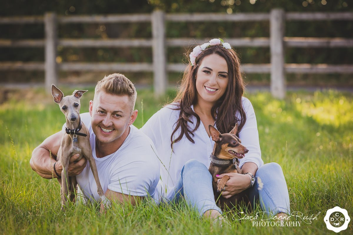 a couple and their dogs