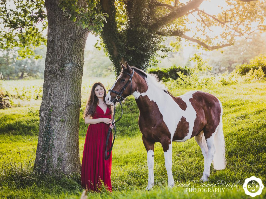 A Prom Dress Horse & Rider Photo Shoot