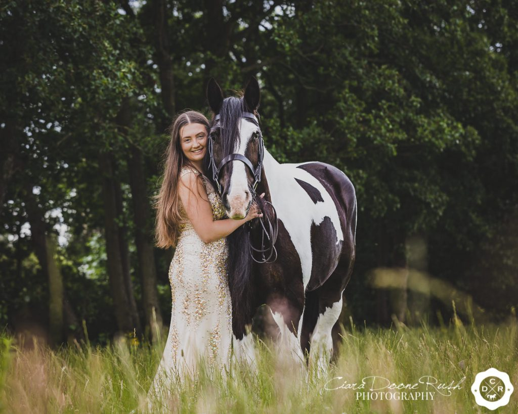 Prom dress and horse photo shoot