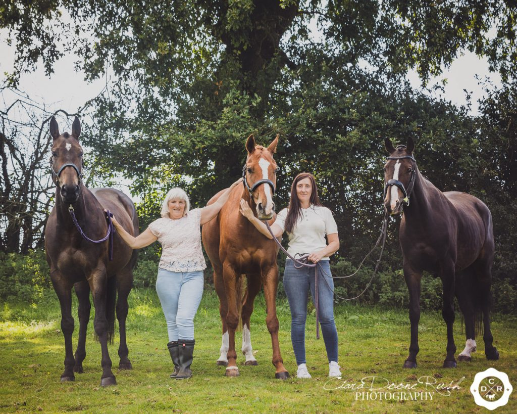 mum and daughter and their horses