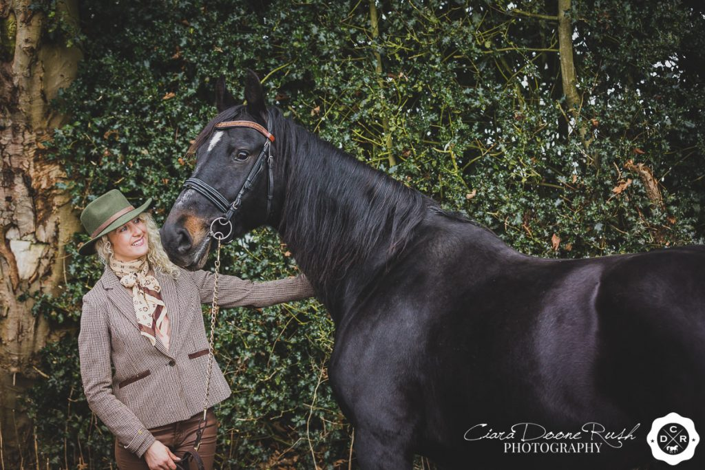 broodmare and owner