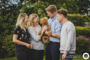 A Family and animals photo shoot
