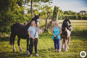 a mother and daughter horse photo shoot