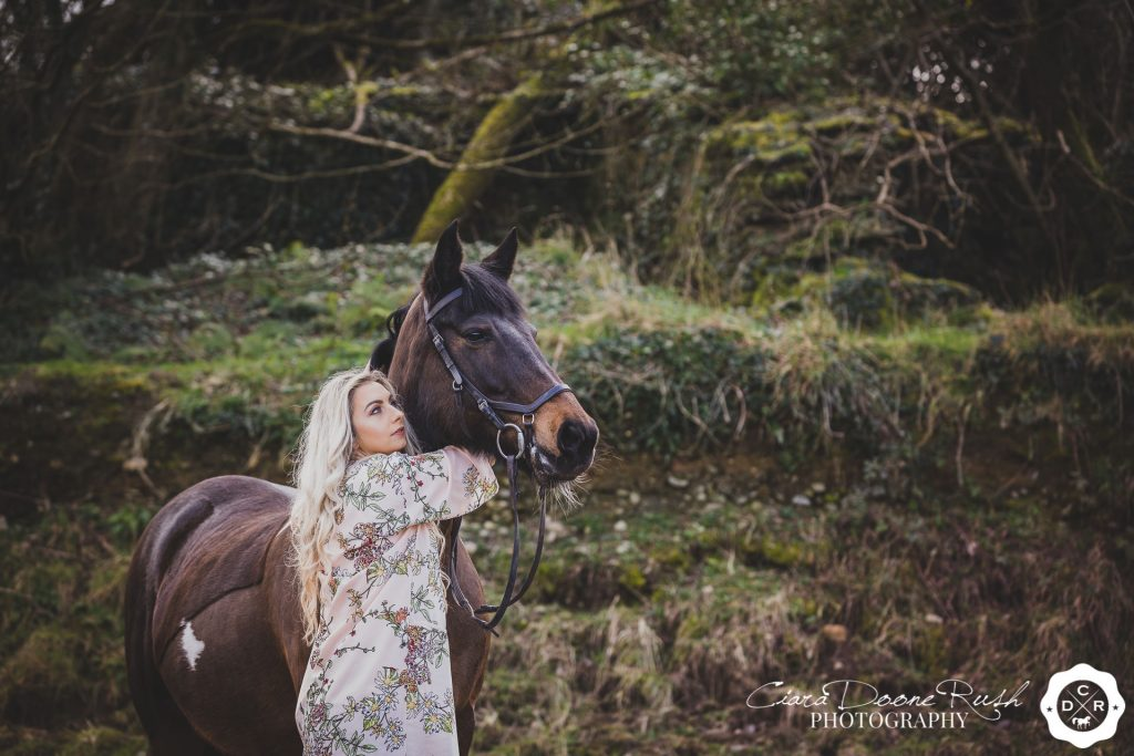 a horse and rider photo shoot in cork